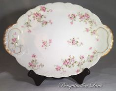 Theodore Haviland Limoges Pink/White Roses by BougainvilleaLane