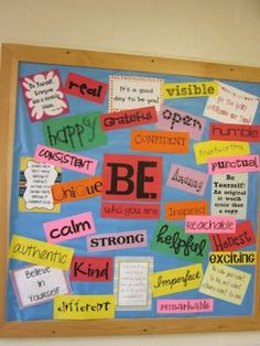 Be! Board. Could be helpful with reinforcing character traits