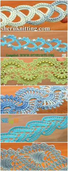 Collection of Crochet Tape Free Patterns  & Tutorials: Crochet Tape Lace, Tape Border, Lace Tape, Beaded Tape, Stripy Tape  via @diyhowto