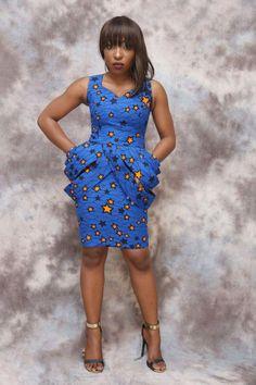 797313f027e5 African print short dress knee length african by HouseOfIzzi