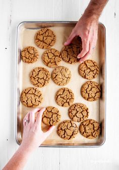 This classic molasses sugar cookies recipe is a much-loved holiday favorite! They're incredibly soft and chewy, with the perfect combination of sweet and spice! Soft Sugar Cookies, Sugar Cookie Dough, Sugar Cookies Recipe, Baking Cookies, Easy Cookie Recipes, Easy Desserts, Baking Recipes, Dessert Recipes, Candy Recipes