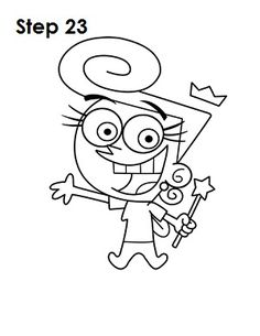 How to Draw Wanda (Fairly OddParents) Easy Disney Drawings, Easy Cartoon Drawings, Drawing Cartoon Characters, Cartoon Drawing Tutorial, Cartoon Painting, Art Drawings Sketches, Character Drawing, Easy Drawings, Pencil Drawings