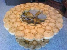 Интересный столик на дачу
