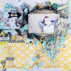 scrapbooking page by Stacey Young
