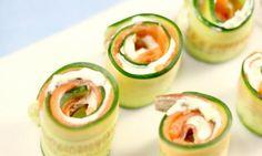 Cucumber and smoked salmon roll-ups  - Kidspot