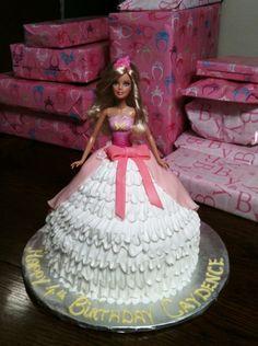 Caydence 4th Birthday Cake..Barbie theme