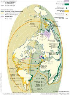 Les Grandes découvertes et le premier partage du monde au XVIe siècle