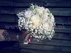 Lovely elegant white rose and gypsophilia bouquet! x
