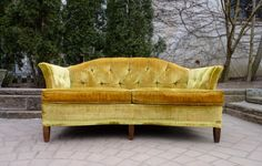 TUFTED mid century CHESTERFIELD sofa Loveseat