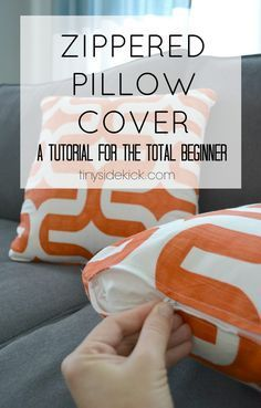 zippered pillow cover tutorial for beginners