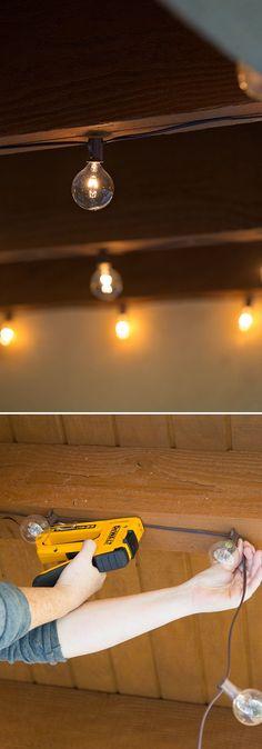 patio string lights on pinterest string lighting patio. Black Bedroom Furniture Sets. Home Design Ideas
