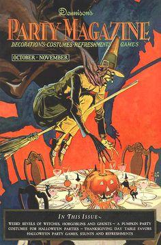 witch halloween vintage dennison's party magazine