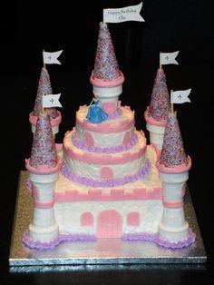 Cinderella Princess Castle Cake