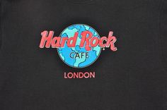 Vintage Hard Rock Cafe London Black Crewneck Sweatshirt Men's L Cotton