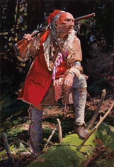 """Painting by John Buxton - Headin' for Higher Ground 16"""" x 11"""" oil"""