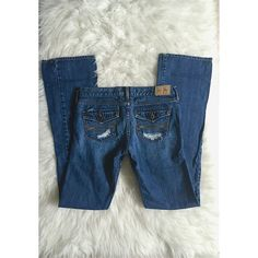 Abercrombie jeans Size = 16 slim, Abercrombie Kids, dark wash with holes for design, cute button pockets in back, does have some flare, also the bottom trims are a little ripped you can refer to the last picture. Needs to be ironed.  ~ I DO NOT SWAP, SO PLEASE DON'T ASK.   ~ I NO LONGER HOLD MY ITEMS  ~YOUR PURCHASE WILL BE SHIPPED WITHIN 24-48 HOURS AFTER PURCHASED, FROM THAT POINT ON I CANNOT CONTROL HOW LONG IT WILL TAKE FOR THE SHIPPING SERVICE TO GET IT TO YOU.   ~I AM MORE THAN HAPPY…