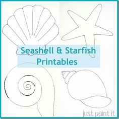 Free Seashell and Starfish printable patterns for painting, coloring…
