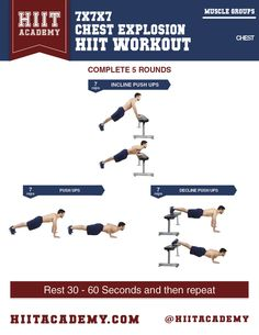 Looking to build up those pecs? This chest HIIT workout tackles the upper, middle, and lower areas of your chest giving you the ultimate body weight chest workout
