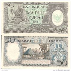 Indonesia 50 Rupiah, Timor woman, spinning wheel / village with huts The Color Of Money, Money Notes, Valuable Coins, Old Commercials, Rare Stamps, Old Money, Old Paper, Historical Photos, Spinning
