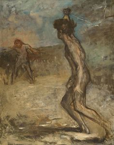 Edgar Degas - David and Goliath. 1864