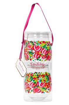 Love these! Lilly Pulitzer® Stemless Wine Glasses (Set of 2) available at #Nordstrom