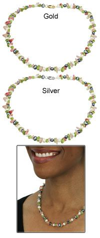 Freshwater Pearl & Gemstone Necklace at The Hunger Site