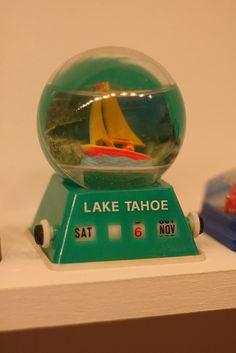 Lake Tahoe date vintage snow globe by fertree33~Jen Bowles, via Flickr