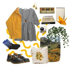 """Sunflower Girl"" by oswin-oswald2 on Polyvore featuring HOT SOX, Dr. Martens et Topshop"