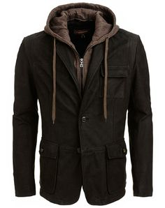 Trendy and contemporary Max matte leather jacket.
