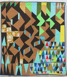 Score for Modern Block Improv: Flying Geese by Sherri Lynn Wood. Oakland, California.