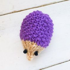 Purple hedgehog available with and without a squeaker!  See link in bio. #etsy #etsyshop #etsyseller #knit #knitamigurumi #knittersofinstsgram #amigurumi #amigurumist #cattoy #hedgehog by sixthanddurian