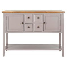 Dining room sideboard / buffet (ours has chippy green paint but I'm loving this putty gray color).