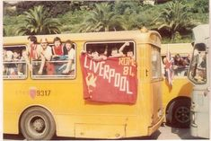 Liverpool fans in Rome 1984 Liverpool Fans, Liverpool Football Club, Premier League Champions, You'll Never Walk Alone, Great Team, Good Old, Rotterdam, Old School, Rome