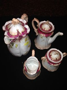 Beautiful Hand Painted Coffee/Tea Set c. 1890 by DeeBirdsNest