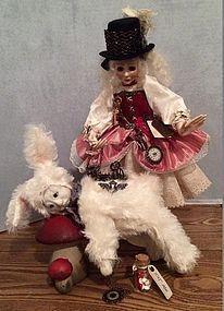 I'm Laaatee!  Steampunk Alice and White Rabbit - Lee Feickert - The Little Ones #dollshopsunited