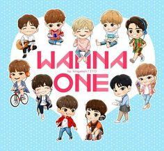 ㅋㅋㅋㅋ I can't this is just soo cute Kpop Drawings, Cute Drawings, First Animation, Tumblr Art, Lai Guanlin, Ong Seongwoo, Ha Sungwoon, First Art, Kpop Fanart