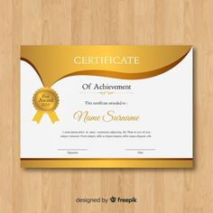 More than 3 millions free vectors, PSD, photos and free icons. Exclusive freebies and all graphic resources that you need for your projects Certificate Layout, Birthday Certificate, Certificate Design Template, Printable Invoice, Computer Literacy, Award Template, Page Borders Design, Happy Birthday Wishes Cards, Certificate Of Achievement