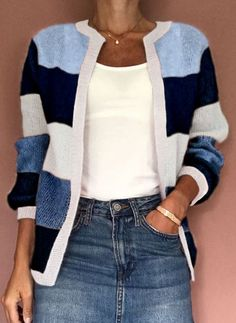 Latest fashion trends in women's Sweaters. Shop online for fashionable ladies' Sweaters at Floryday - your favourite high street store. Knit Fashion, Sweater Fashion, Cute Fashion, Women's Fashion, Fashion Online, Knit Cardigan Pattern, Chunky Knit Cardigan, Blouse Styles, Sweaters For Women