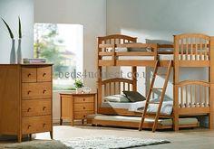 Joseph 3'0 (91cm) Maple Bunk Bed