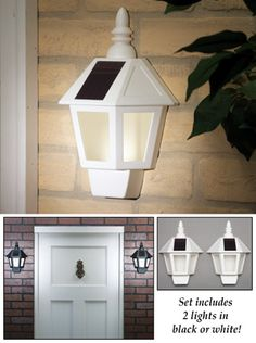 Solar Powered Wall Lights - Set of 2