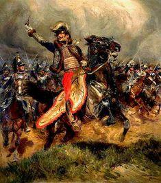Le général Lasalle à la bataille de Wagram, 1809 - par DETAILLE