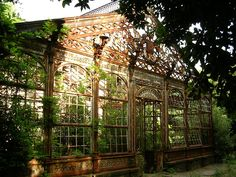 The Villa Maurogordato Livorno reduced from decades in ruins because of the indifference of the community. The villa it was not affected by the bombings of World War II but was sacked in the time and never restored. View of greenhouse dating back to 1871.