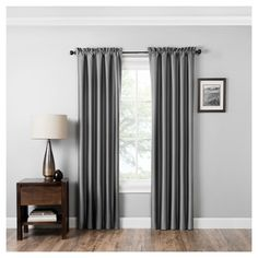 """Miles Thermaback Blackout Curtain Panel Grey (42""""x95"""") - Eclipse Absolute Zero"""