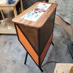 Arcade Pedestal Arcade Machine Retro Modern Furniture | Etsy Diy Arcade Cabinet, Arcade Machine, Pedestal, Modern Furniture, Retro, Table, Home Decor, Decoration Home, Room Decor