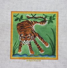 kids handprint idea: tiger handprint Annies Current Paintings: Childrens Hand Print Zoo Animals for Needlepoint Crafts For Boys, Craft Activities For Kids, Daycare Crafts, Thumbprint Crafts, Spring Toddler Crafts, Easy Painting Projects, Fingerprint Art, Magic Treehouse, Footprint Art