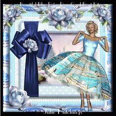Beautiful Retro Rose Blue Card Front Kit on Craftsuprint designed by Julie Hutchings - Lovely Mini kit to make a 8x8 card frontThis has 2 sheets to printMain Card Front with Sentiment tagsDecoupage for Main card FrontSentiment tag choicesHappy BirthdayBlank For your own sentimentEasy to make and stunning when completeThank you for looking and please take a look at my other designs by clicking on my name above - Now available for download!