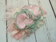 Baby Girl Headband-Flower Girl por AvryCoutureCreations en Etsy