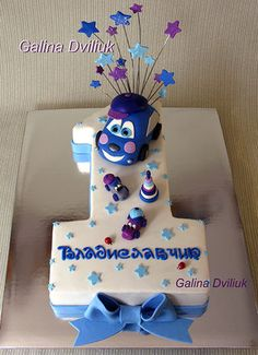 Baby First Birthday Cake, Birthday Cake For Him, Baby Boy Cakes, Cakes For Boys, Birthday Design, Cake Designs, First Birthdays, Buffet, Cake Decorating