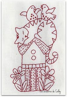 Red Work Free Pattern
