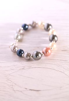 Glass Pearls Bracelet